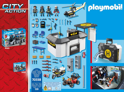 Playmobil City Action 70338 Take Along Tactical Unit Headquarters