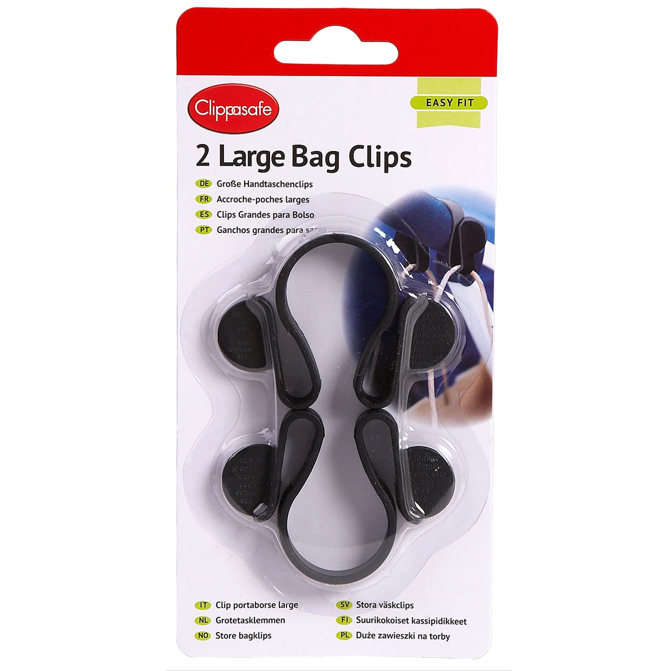 Clippasafe Large Stroller Bag Clips 2 Pack