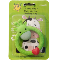 Happy Baby Daisy The Cow Teething Ring Green