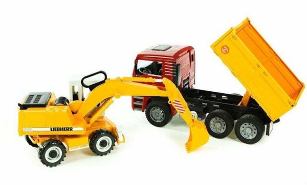 Bruder 02751 MAN TGA Construction Truck With Excavator