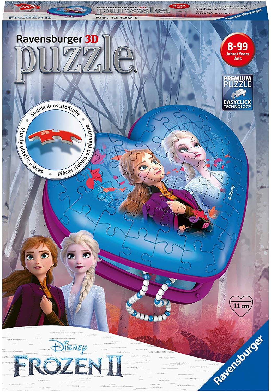 Disney Frozen Heart Shaped 3D Jigsaw Puzzle