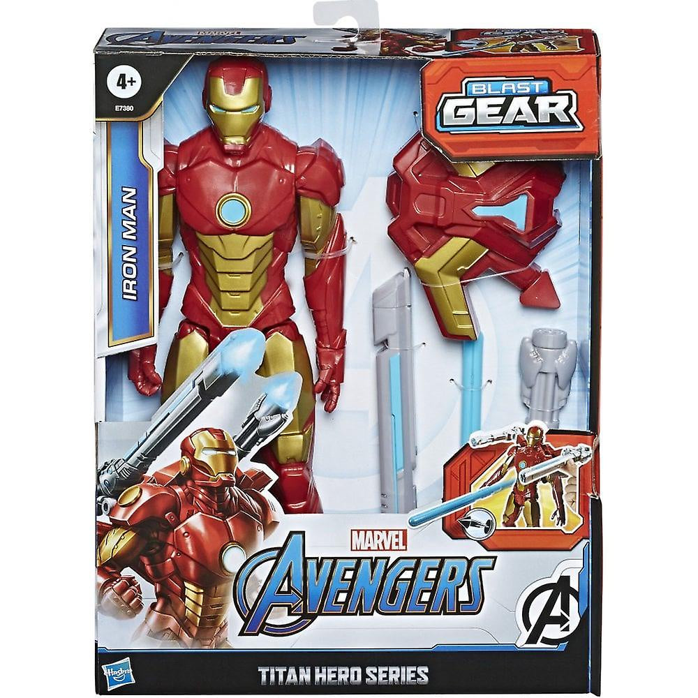 "Marvel Avengers Titan Hero Series 12"" Figure Iron Man Blast Gear Iron Man"