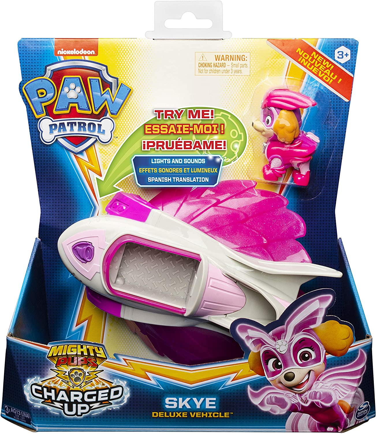 Paw Patrol Mighty Pups Charged Up Skye Deluxe Vehicle