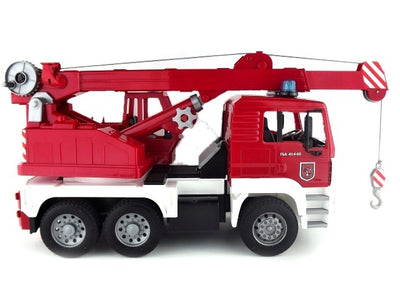 Bruder 02770 MAN Fire Engine Crane Truck with Light and Sound Module