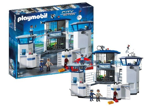 Playmobil City Action 6919 Police Headquarters With Prison
