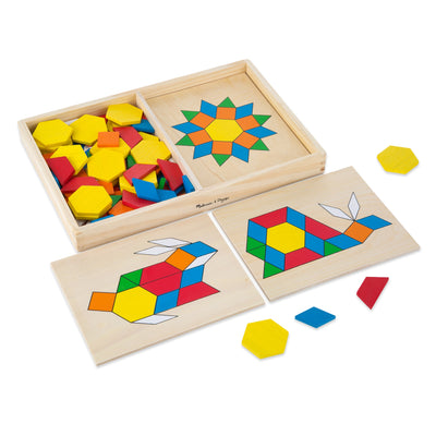 Melissa & Doug Pattern Blocks And Board