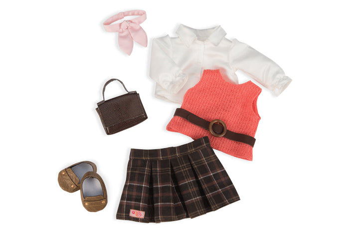 Our Generation Retro Clothing Set Ready to get Preppy