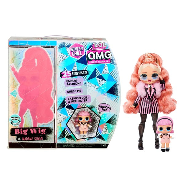 LOL Surprise! O.M.G Big Wig And Madame Queen Doll With 25 Surprises