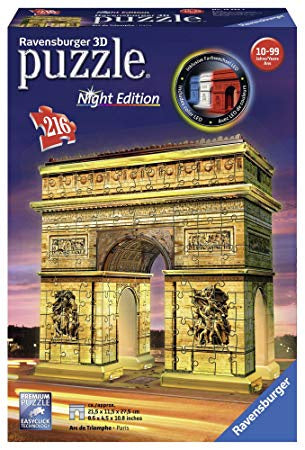 Ravensburger Arc De Triomphe 3D Jigsaw Puzzle Night Edition