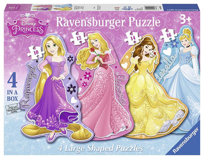 Disney Princess 4 in a box Large Shaped Jigsaw Puzzle