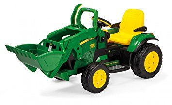 John Deere 12V Ground Loader Electric Tractor With Front Loader