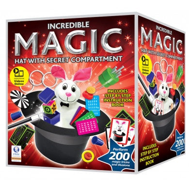 Incredible Magic Hat Magic Set With 200 Tricks
