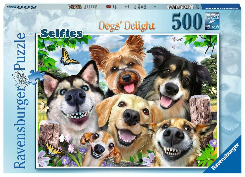 Ravensburger Dog's Delight Selfies 500pc Jigsaw Puzzle