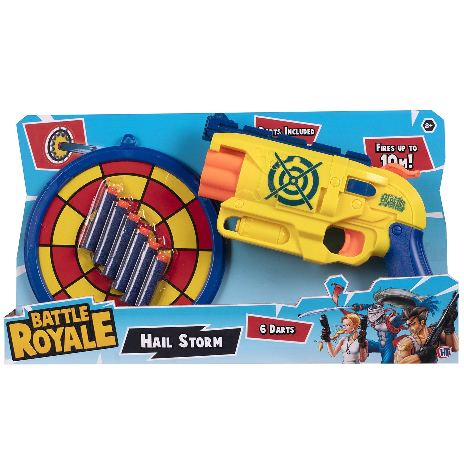 Hail Storm Battle Royale Dart Gun And Target