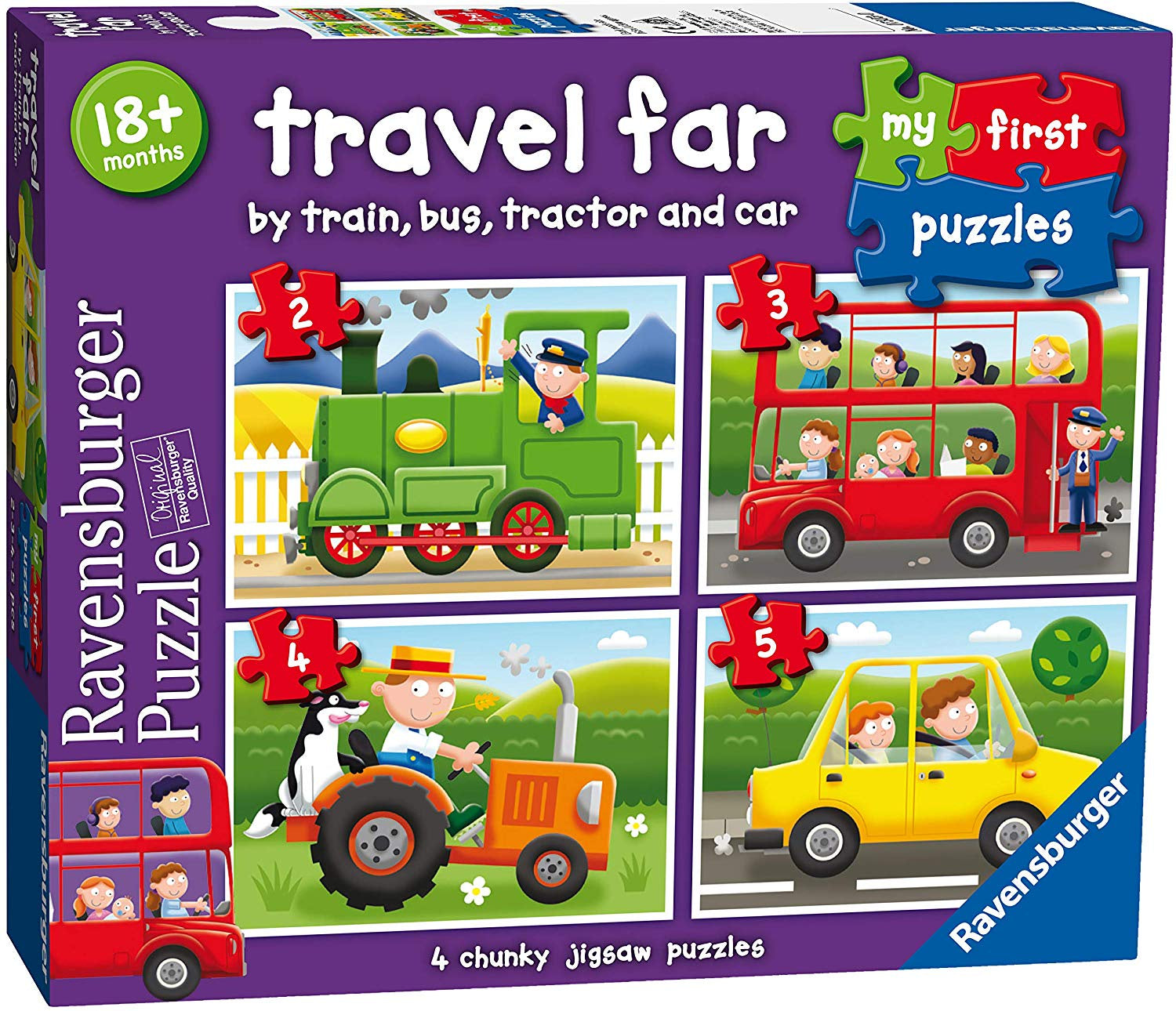 My First Jigsaw Puzzles Travel Far 4 Chunky Jigsaw Puzzle