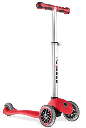 Globber Elite Foldable Tri Scooter Red