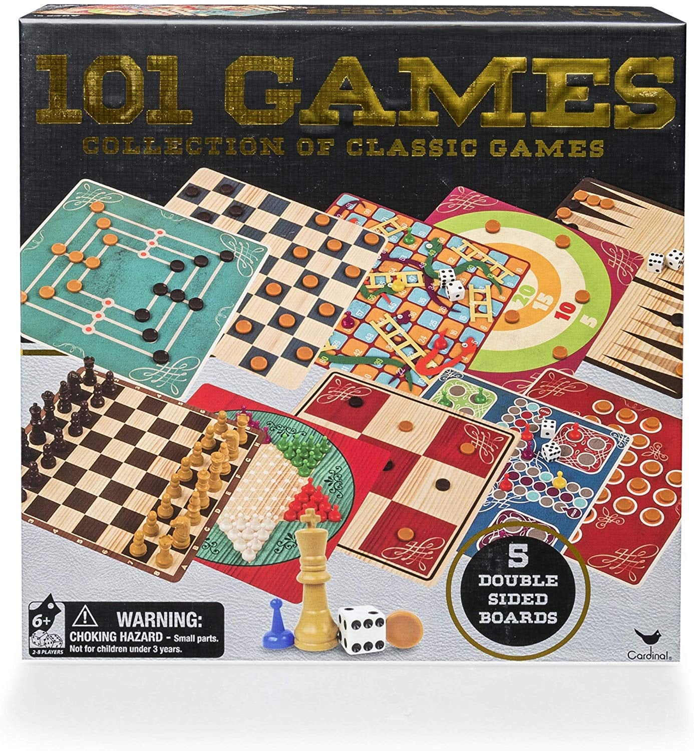 Classic Wood 101 Games Set