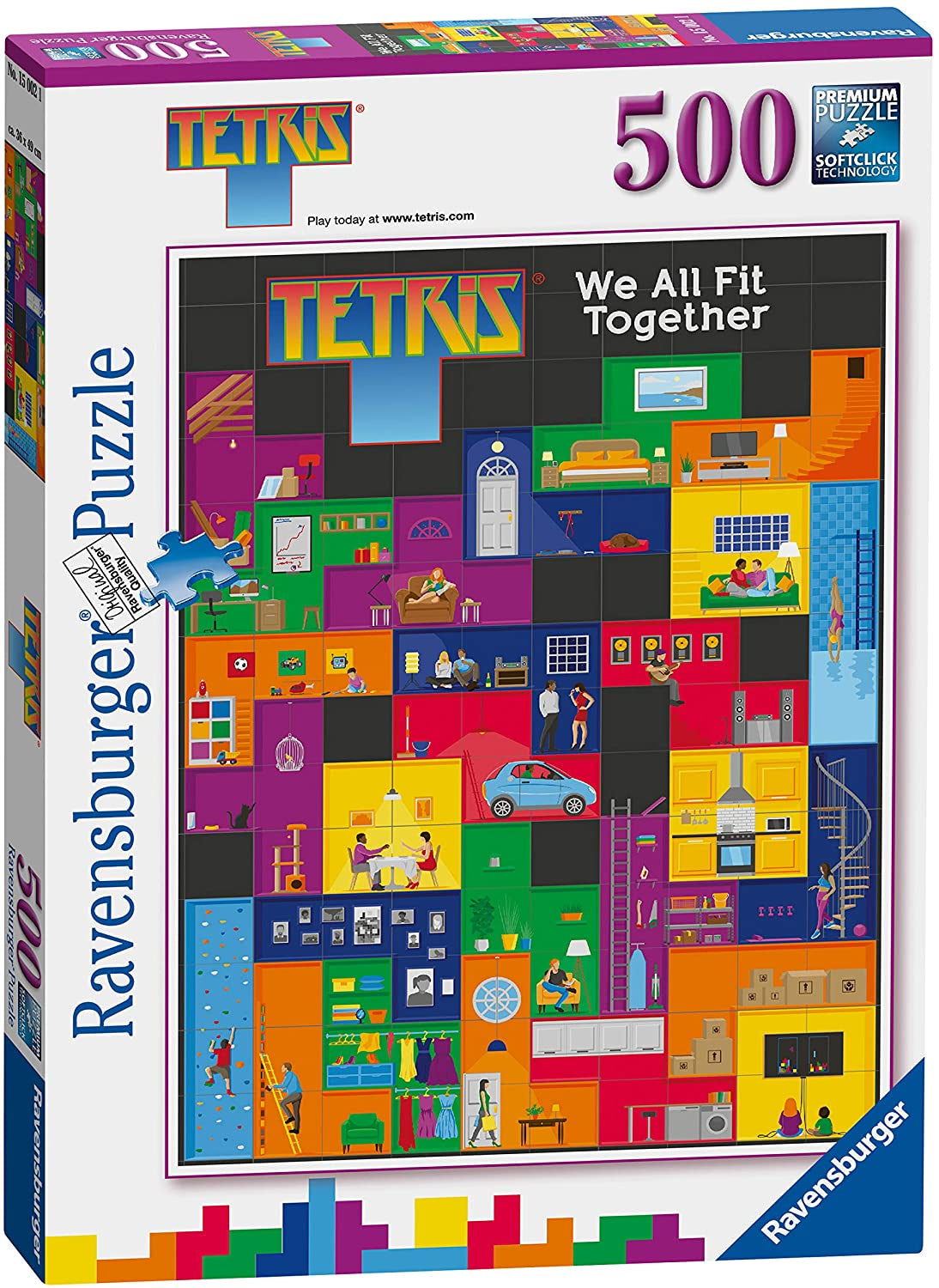 Ravensburger Tetris We All Fit Together 500pc Jigsaw Puzzle