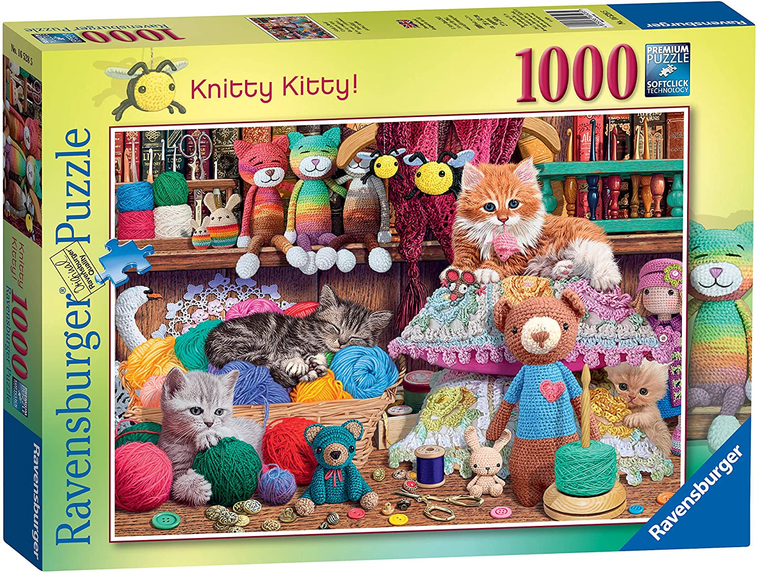 Ravensburger Knitty Kitty 1000pc Jigsaw Puzzle