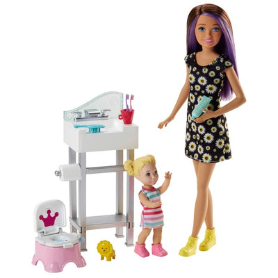 Barbie Skipper Babysitters Inc Doll Potty Playset