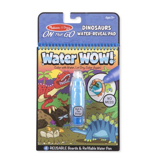 Melissa & Doug Water Wow On The Go Dinosaurs