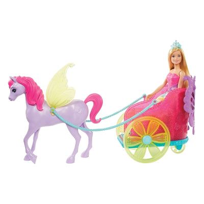 Barbie Dreamtopia Princess Barbie Pegasus Horse And Chariot