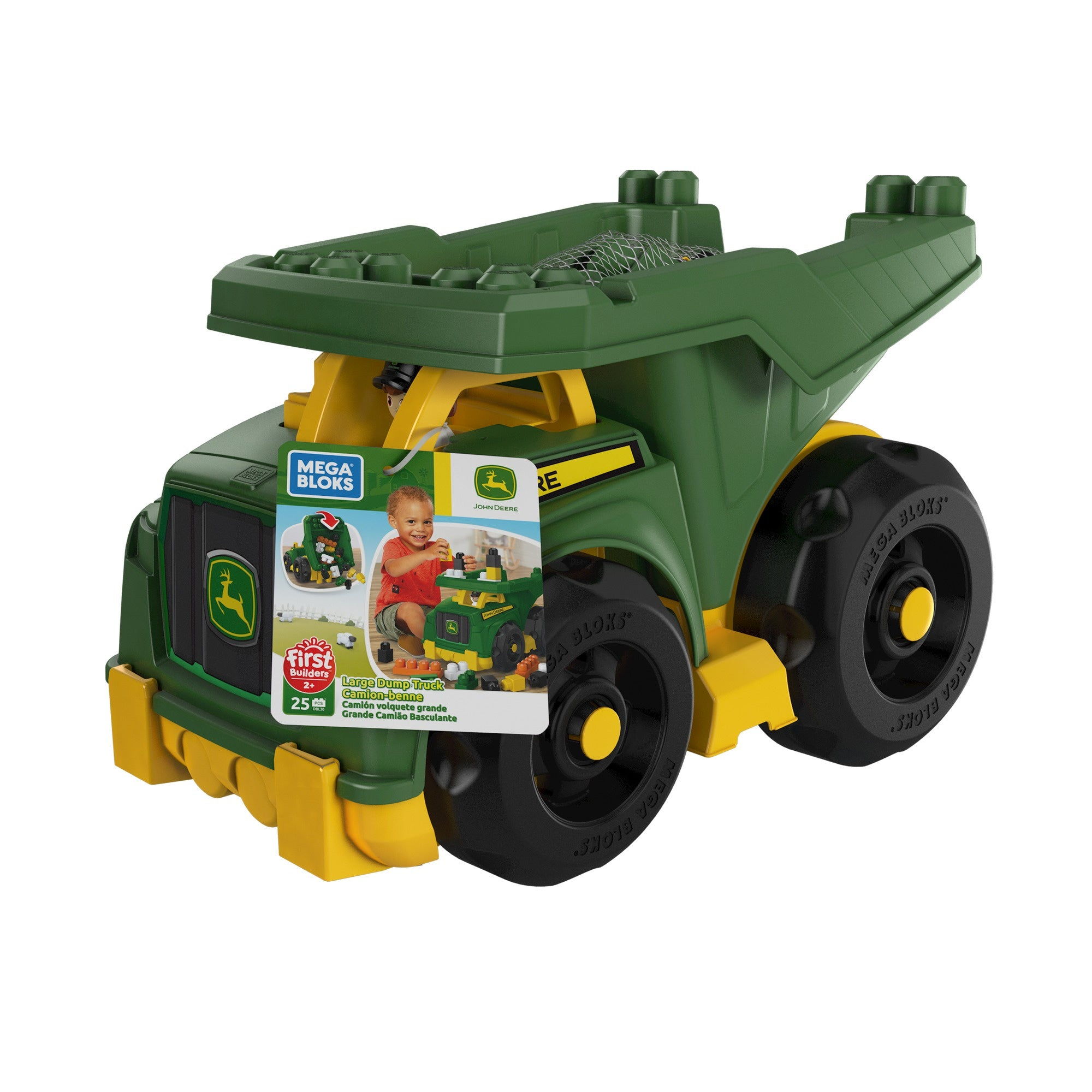 Mega Bloks John Deere Dump Truck With Bricks