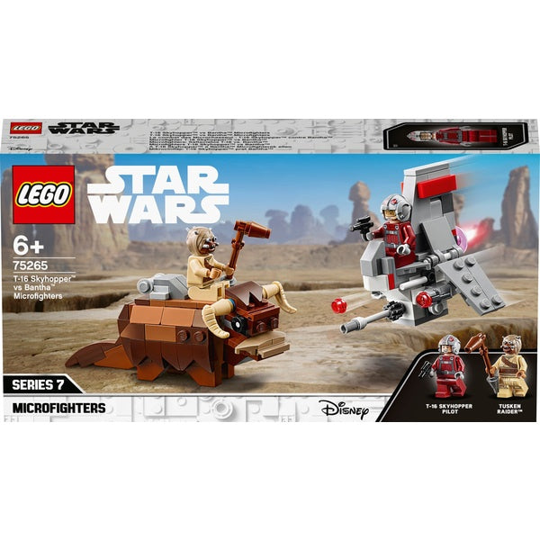 Lego Star Wars 75265 T-16 Skyhopper vs Bantha Micro Fighters
