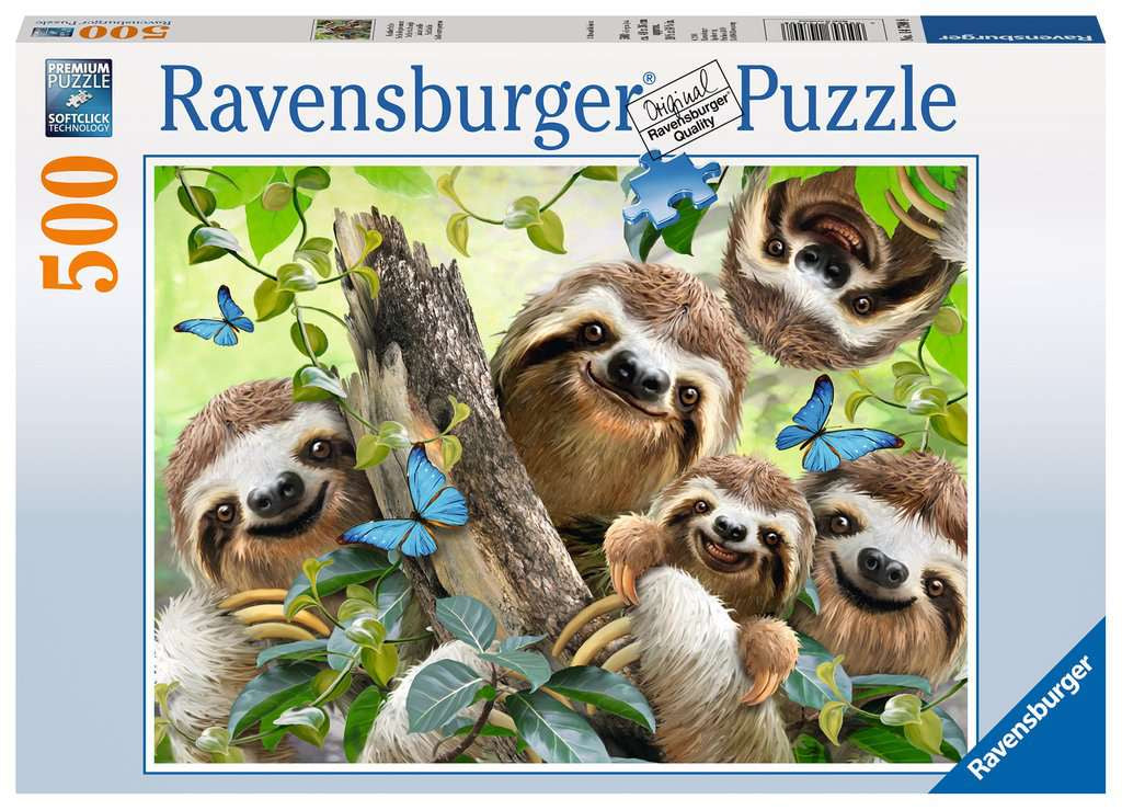 Ravensburger Sloth Selfie 500pc Jigsaw Puzzle