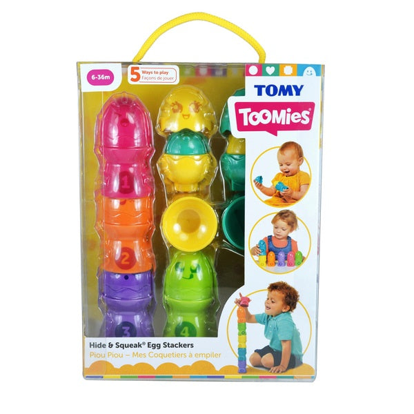 Tomy Toomies Hide And Squeak Egg Stackers