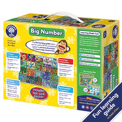 Orchard Toys Big Number Jigsaw Puzzle And Poster