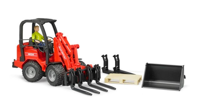Bruder 02191 Schaeffer 2034 Compact Loader with Figure and Accessories