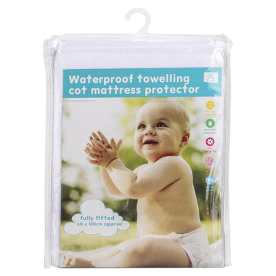 Waterproof Towelling Cot/ Cot Bed Mattress Protector