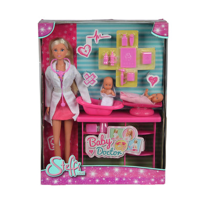 Steffi Love Baby Doctor Doll And Baby Playset