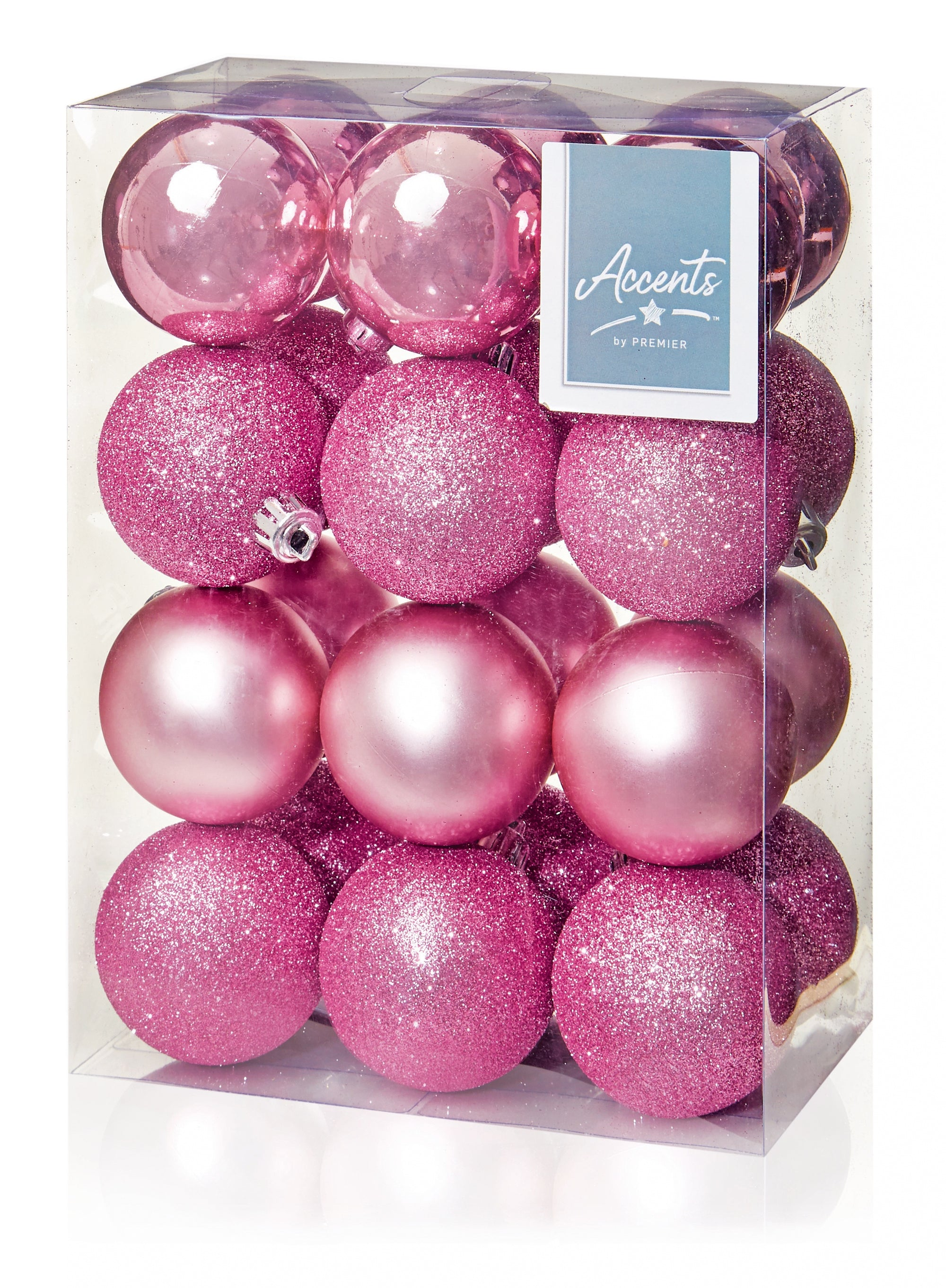24x60mm Pink Baubles Multi Finish