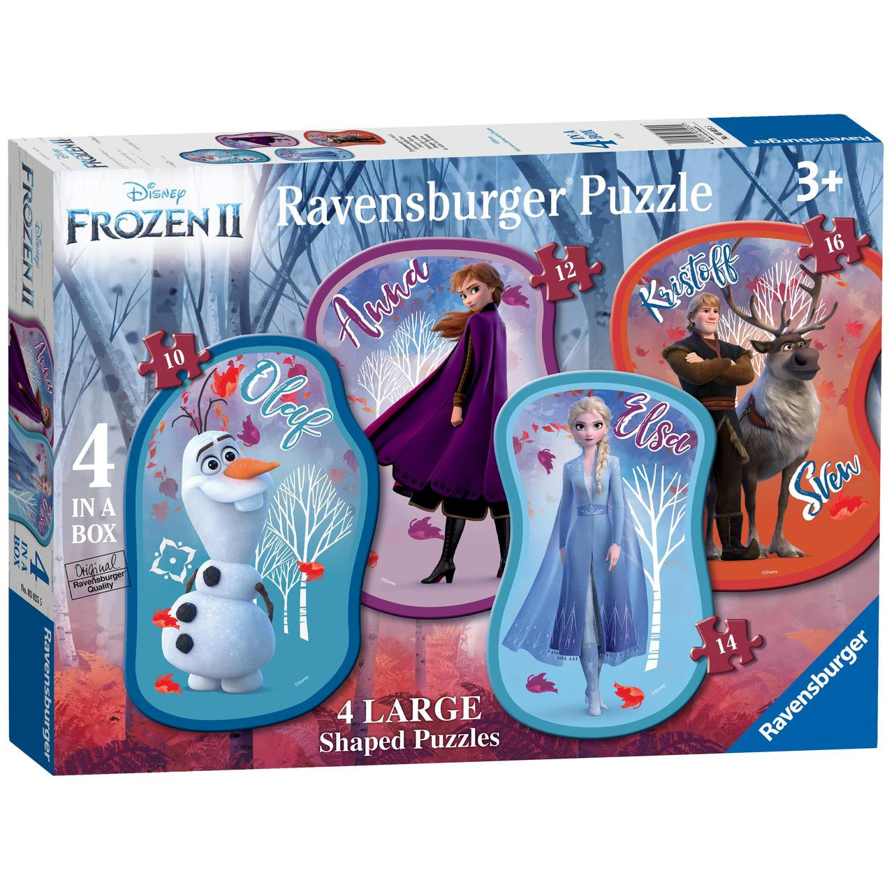 Disney Frozen II 4 in a Box Large Jigsaw Puzzles