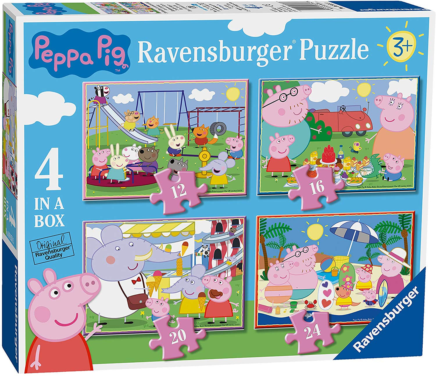 Peppas Pig 4 In A Box Jigsaw Puzzle