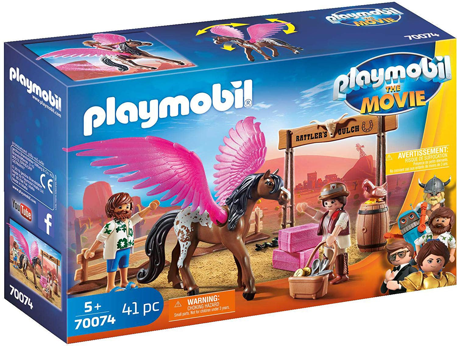 Playmobil the Movie 70074 Marla and Del with Horse