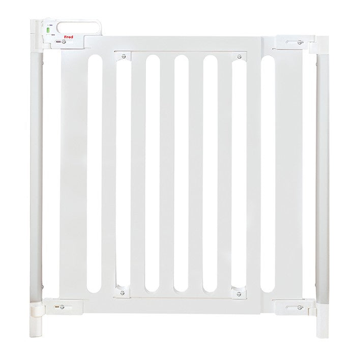 Fred Screwfit Wooden Stair Gate - White Wood Panel