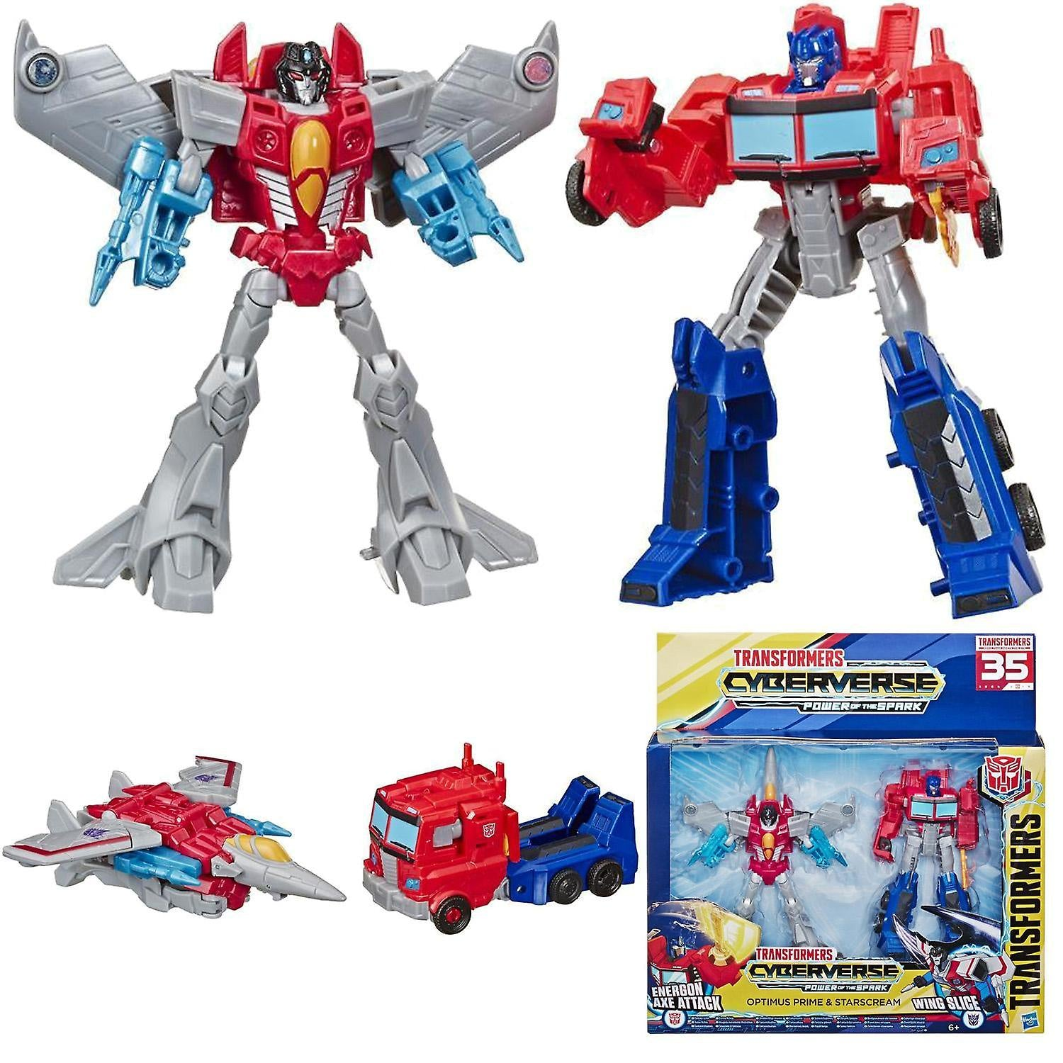 Transformers Cyberverse Power Of The Spark Optimus Prime And Starscream