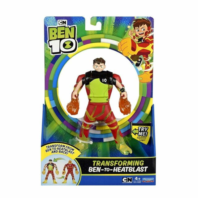 Ben 10 Transforming Figure Ben To Heatblast