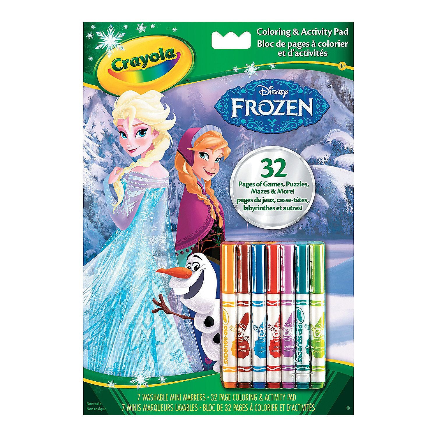 Crayola Disney Frozen Colouring And Activity Book With 7 washable Markers