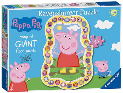 Peppa Pig Shaped Giant Floor Puzzle