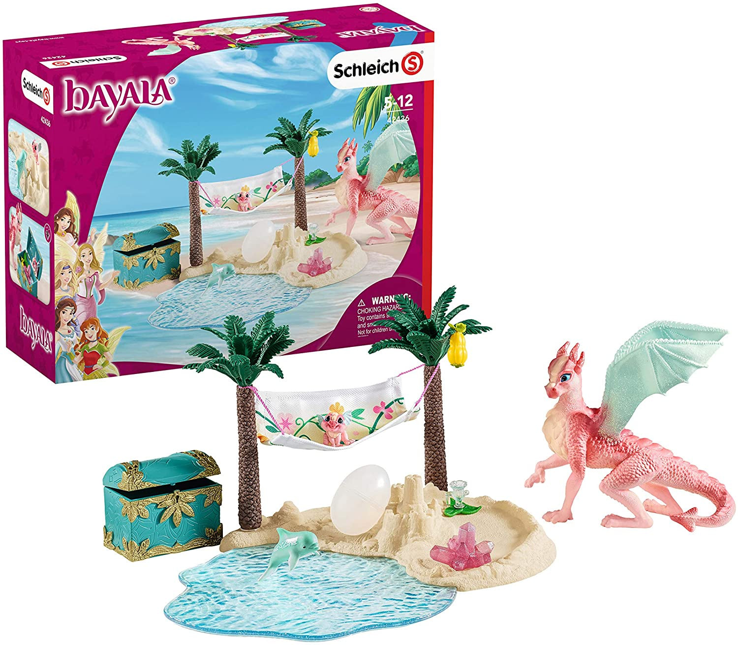 Schleich Bayala 42436 Dragon Island With Treasure And Dragon Figure Pl