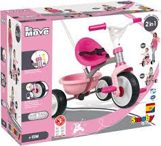 Smoby Be Move Trike / Tricycle Pink
