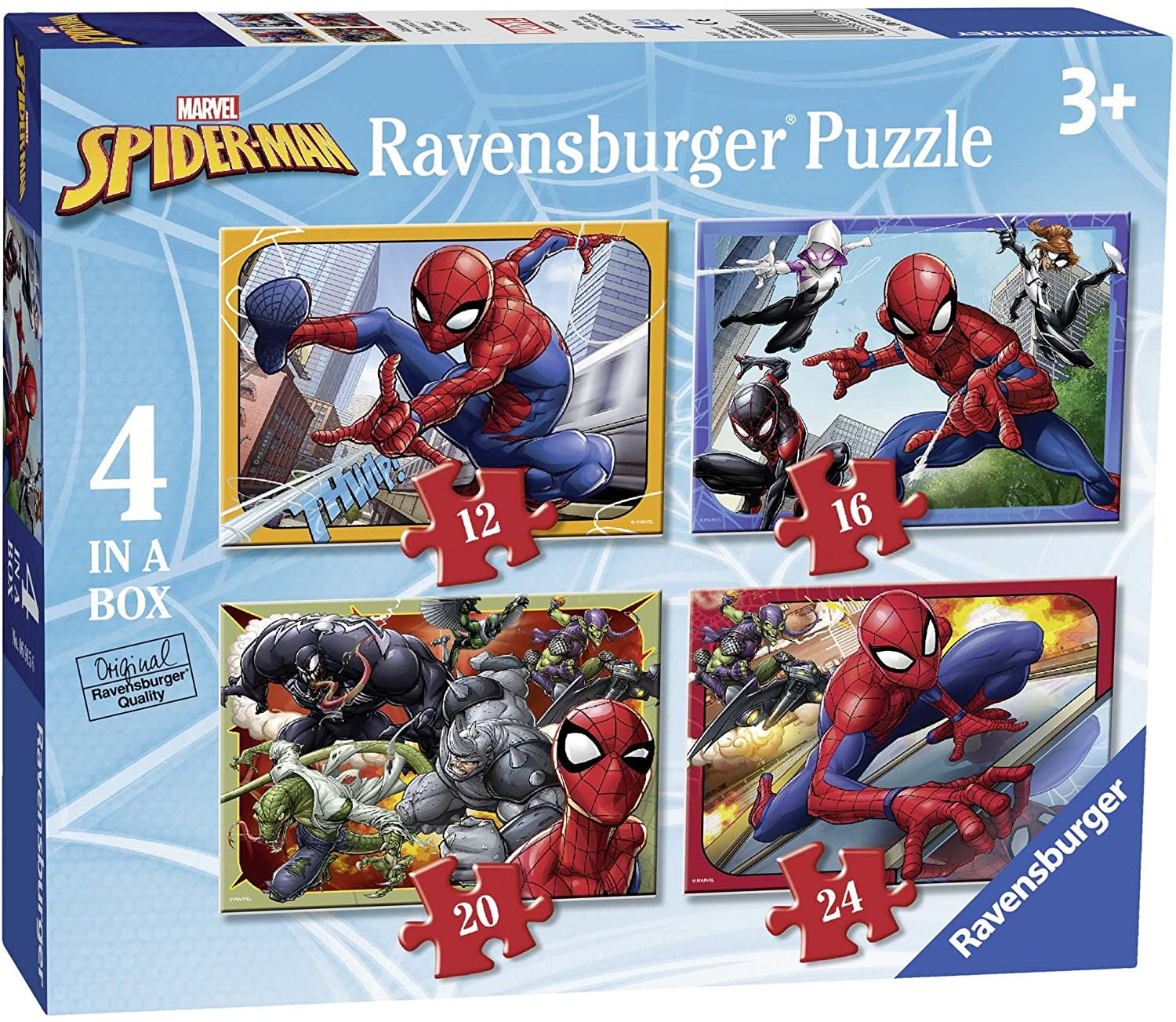 SpiderMan 4 In A Box Jigsaw Puzzle