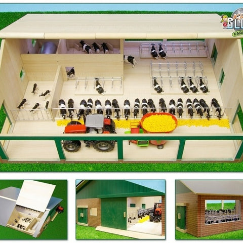 Kids Globe 0495 - Wooden Cow Shed with Milking Parlour