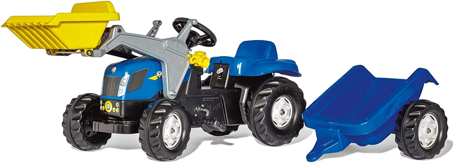 Rolly New Holland T7040 Tractor With Front Loader And Trailer