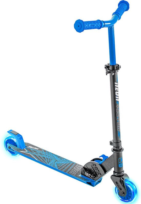 Yvolution Neon Vector Scooter Blue With Light Up wheels