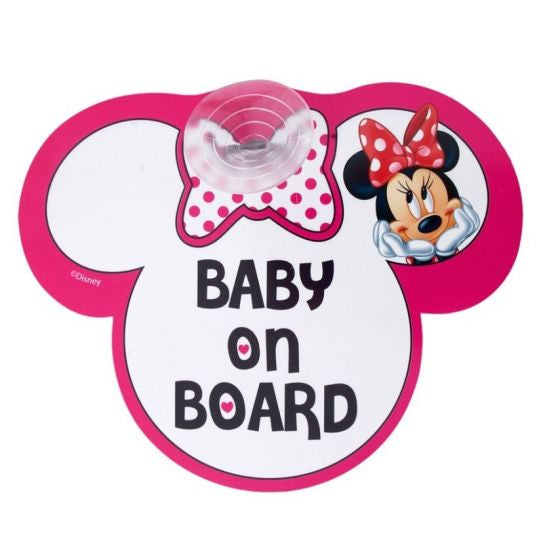 Minnie Mouse Baby On Board Sign